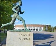 Paavo Nurmi statue Stock Images