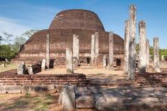 Pabalu Vehera in ancient city of Polonnaruwa, Sri Lanka. Unesco World Heritage Site Stock Photo