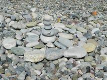 Pabbles auf dem Strand Stockbild