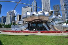 Pabellón Chicago de Jay Pritzker Imagen de archivo libre de regalías