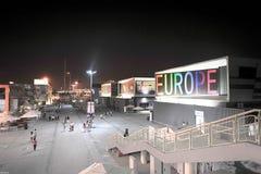 Pabellón chino de la unión europea de Shangai 2010 de la expo del mundo fotografía de archivo libre de regalías