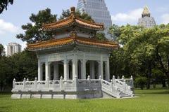 Pabellón chino, parque de Lumphini fotografía de archivo libre de regalías