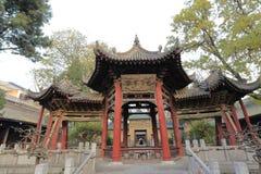 Pabellón combinado antiguo en mezquita del carril del huajue de xian la gran, adobe rgb Foto de archivo