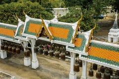 Pabellón de Bell en templo tailandés Foto de archivo