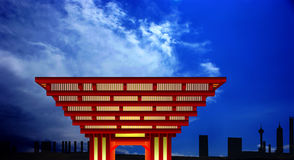 Pabellón de China Foto de archivo libre de regalías