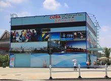 Pabellón de Cuba en la expo Shangai 2010 China Imágenes de archivo libres de regalías