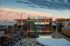 Pabellón de Ecuador en la expo 2015 Fotos de archivo libres de regalías