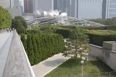 Pabellón de Jay Pritzker en el parque Chicago del milenio imagen de archivo libre de regalías