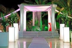 Pabellón de la ceremonia de boda judía (chuppah o huppah) Foto de archivo libre de regalías