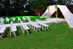 Pabellón de la ceremonia de boda judía (chuppah o huppah) Imagen de archivo
