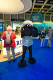 Pabellón de la compañía alemana ARD de la televisión y de las historietas Shaun del carácter las ovejas Imágenes de archivo libres de regalías