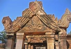Pabellón de la entrada de información en un templo budista. Imágenes de archivo libres de regalías