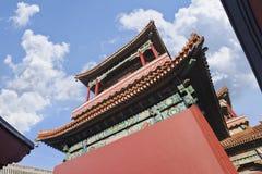 Pabellón de Lama Temple Beijing contra un cielo azul fotos de archivo libres de regalías