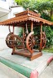 Pabellón de madera tailandés tradicional Fotografía de archivo libre de regalías