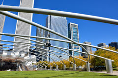 Pabellón de Pritzker en el parque del milenio, Chicago Imagen de archivo libre de regalías