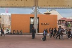 Pabellón de Sudán en la expo 2105 en Milán, Italia Imagenes de archivo