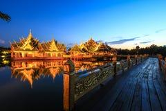 Pabellón del aclarado en Tailandia antigua, Samutparkan, Tailandia Foto de archivo