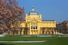 Pabellón del arte en Zagreb, Croatia Foto de archivo libre de regalías