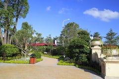 Pabellón del paño en el patio Imagen de archivo libre de regalías