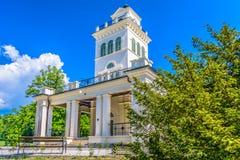 Pabellón del parque de Maksimir en Zagreb, tiempo de primavera Fotografía de archivo