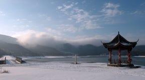 Pabellón en el invierno Fotos de archivo