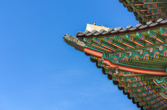 Pabellón en el palacio de Gyeongbokgung en Seul, Corea Foto de archivo libre de regalías