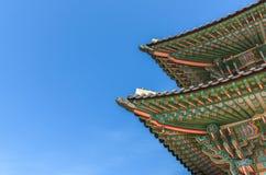 Pabellón en el palacio de Gyeongbokgung en Seul, Corea Foto de archivo