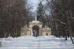 Pabellón en el parque de Tsaritsino, Moscú Foto de archivo