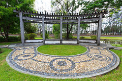 Pabellón en jardín chino Fotografía de archivo