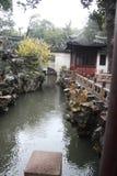 Pabellón en Yu Yuan Gardens, Shangai Arquitectura, verde Foto de archivo