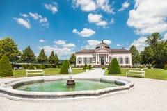 Pabellón famoso del jardín de la abadía de Melk en una Austria más baja Imagen de archivo libre de regalías