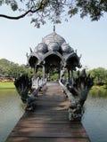 Pabellón hermoso en la ciudad antigua, Tailandia. Imagen de archivo