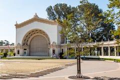 Pabellón histórico del órgano del ` s Spreckels del parque del balboa Imagen de archivo