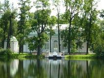 Pabellón Pasillo en la isla en Tsarskoye Selo Imágenes de archivo libres de regalías