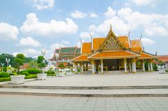 Pabellón real de Mahajetsadabodin Localizado en adyacente a Wat Ratchanatdaram Worawihan Foto de archivo