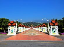 Pabellón real en el parque real Rajapruek, Chiang Mai fotos de archivo