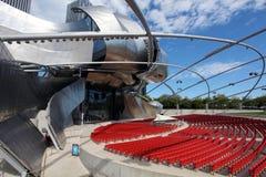 Pabellón de Jay Pritzker en parque del milenio Fotografía de archivo