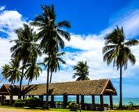 Pabellón de la playa Foto de archivo libre de regalías