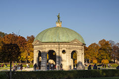 Pabellón en el Hofgarten en Munich, Alemania, 2015 Imagen de archivo