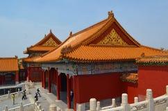 Pabellones de las pagodas dentro del complejo del Templo del Cielo en Pekín Foto de archivo libre de regalías