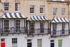 Pabellones rayados Imagen de archivo libre de regalías