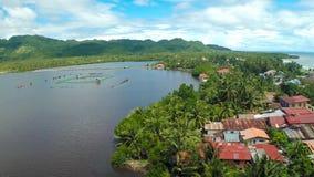 Pablacio för flyg- sikt stad Anda Bohol Filippinsk natur royaltyfri foto