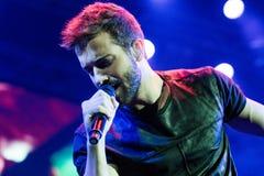 Pablo Alborà ¡ n i levande konsert Royaltyfria Foton