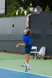 Pablo Carreño Busta plays Winston-Salem Open. Pablo Carreño Busta plays in the 2nd Round at the Winston-Salem Open on August 23, 2016 in Winston-Salem stock image