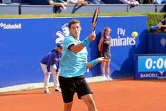 Pablo Carreno Busta (jugador de tenis español) juega en el ATP Barcelona Foto de archivo