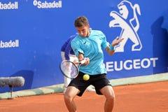 Pablo Carreno Busta (Spanish tennis player) plays at the ATP Barcelona Royalty Free Stock Image