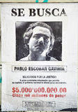 Pablo Escobar querido imagem de stock