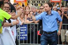 Pablo Iglesias at manifestation against terrorism Stock Image
