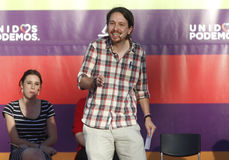 Pablo Iglesias, Podemos Photographie stock libre de droits