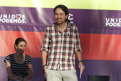 Pablo Iglesias, Podemos Στοκ φωτογραφία με δικαίωμα ελεύθερης χρήσης